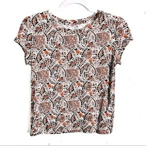 American Eagle Soft and Sexy Paisley Tee
